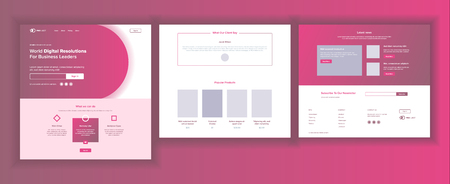 Website Template Vector. Page Business Technology. Landing Web Page. Creative Modern Layout. Payment Plan. Design Business. Industry Innovation. Illustration