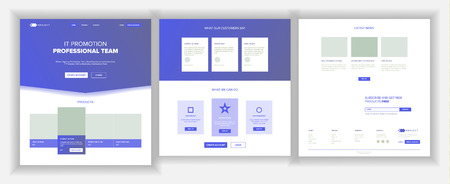 Website Page Vector. Business Website. Web Page. Landing Design Template. Processes And Office Situation. Support Solution. Group Meeting. Product Testimonial. Illustration