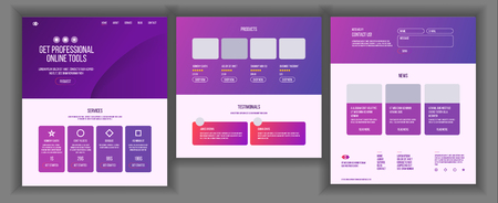Website Template Vector. Page Business Technology. Landing Web Page. Creative Modern Layout. Payment Plan. Industry Innovation. Money Pay. Illustration