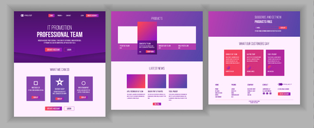 Website Template Vector. Page Business Landing. Web Page. Responsive Design Interface. Brainstorming Communication. Engineering Growth. Example Brand. Illustration