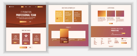 Website Page Vector. Business Agency. Web Page. Landing Design Template. Network Connection. Digital Developer. Application Newspaper. Future Gadget. Illustration