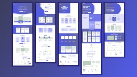 Website Page Vector. Business Website. Web Page. Landing Design Template. Processes And Office Situation. Meeting Teamwork. Human Resources. Support Solution. Illustration
