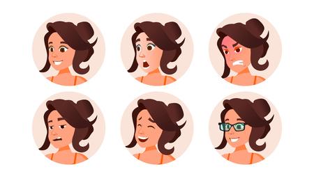 Vecteur de personnes avatar femme. Espace réservé par défaut. Pictogramme fort. Illustration de personnage plat Vecteurs