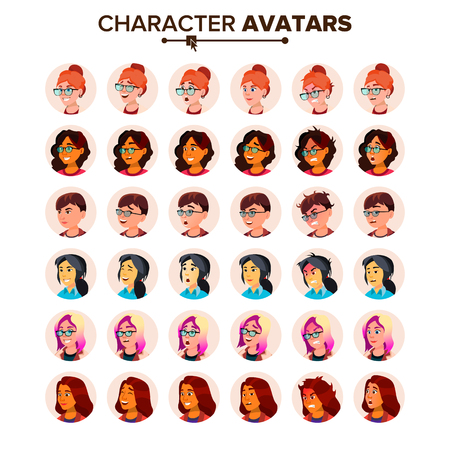 Avatar Icon Woman Vector. Default Placeholder. Colored Member. Cartoon Character Illustration