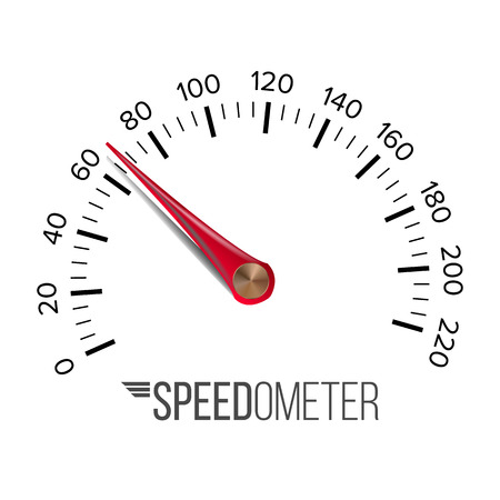 Speedometer Vector. Car Abstract Console Gauge Tachometer. Illustration