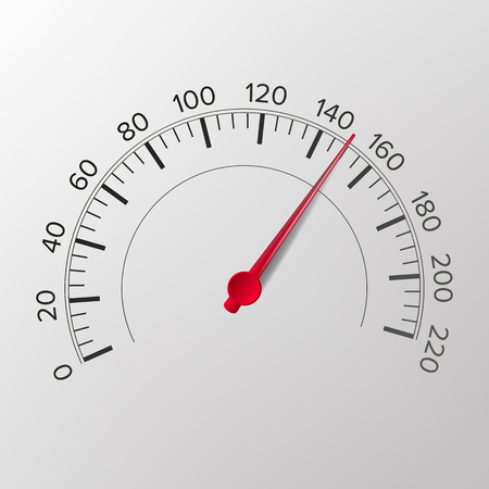 Speedometer Vector. Tachometer. For Transportation, Racing Design. Illustration