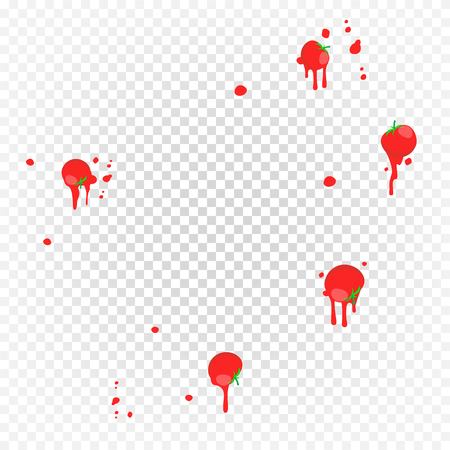 Throw Tomatoes Vector. Having Tomatoes From Crowd. Fail, Unsuccessful, Reverse, Misfortune Concept. Isolated Flat Illustration Ilustrace
