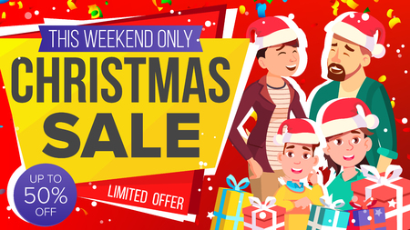 Christmas Sale Banner Vector. Sale Background. Big Offer. Illustration