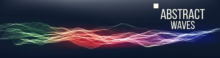 Music Waves Abstract Sound Background Vector. Pont Dance Waveform. Cyber Security. Illustration Illustration