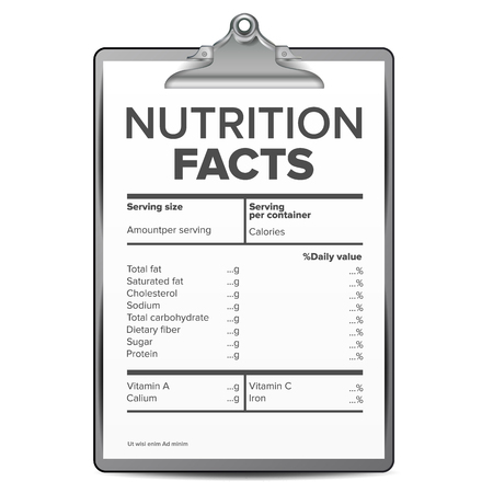 Nutrition Facts Vector. Blank, Template. Serving. Healthy Fitness Healthy Dietary Supplement Illustration