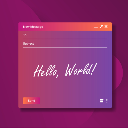 Email Blank Template Vector. Text Box And Button. Submit Form. Intarnet Message. Mail Illustration