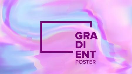 Gradient Fluid Background Vector. Modern Sreen. Trendy Placard. Chemical Hologram. Liquid Design Illustration Vector Illustratie
