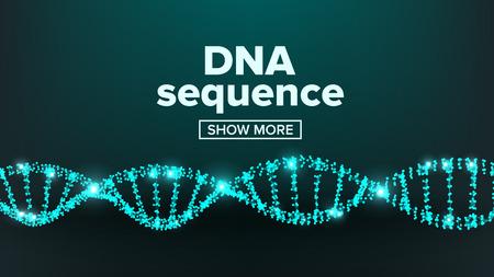 Dna Structure Vector. Digital Cell. Healthy Chromosome. Evolution Symbol Illustration