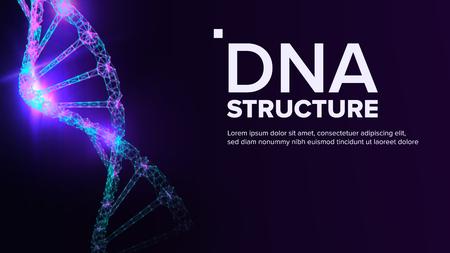 Wektor struktury DNA. Koncepcja biotechnologii. Ilustracja ulotki o biochemii Ilustracje wektorowe