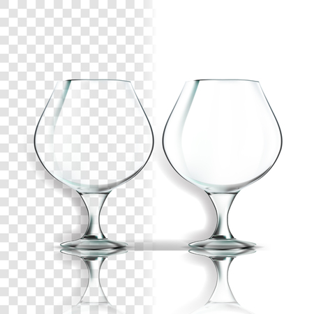 Transparent Glass Vector. Single Shape. Luxury Icon. Empty Clear Glass Cup. For Water, Drink, Wine, Alcohol, Juice, Cocktail. Realistic Shining Glassware Transparency Illustration Ilustração