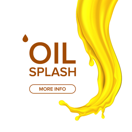 Oil Splash Vector. Cosmetic, Machine. Automobile Industry. Organic Diesel. Mechanic Symbol. 3D Realistic Isolated Illustration