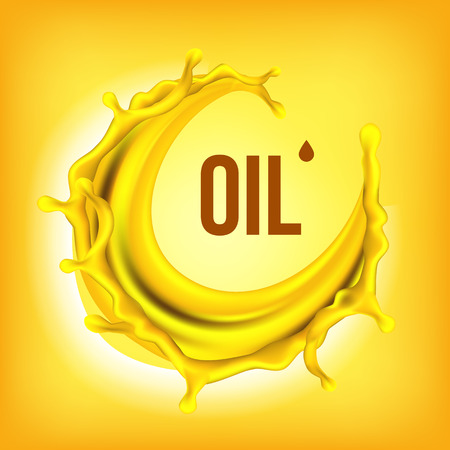 Oil Splash Vector. Cosmetic, Machine. Automobile Industry. Extract Or Essential. Gasoline Banner. 3D Realistic Isolated Illustration