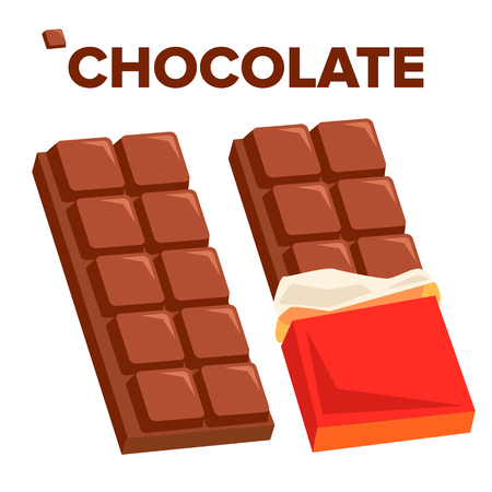 Chocolate Bar Icon Vector. Dark Opened Taste Bar. Isolated Cartoon Illustration Vector Illustration
