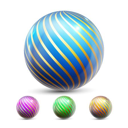 Sphere Ball Vector. Orb Shining. Magic Globe. Fluid Element. Jeweler Perl. 3D Realistic Illustration Illustration