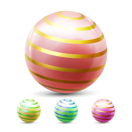 Sphere Ball Vector. Orb Shining. Round Button. Glossy Element. Cirlce Object. 3D Realistic Illustration Illustration
