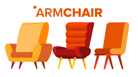 Armchair Vector. Home Furniture Isolated Flat Illustration
