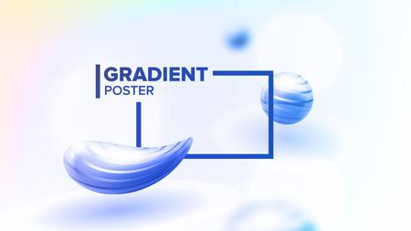 Fluid Liquid Abstract Background Vector. Curve Shape Minimalism. Decoration Smooth. Blurred Print. 3D Realistic Illustration Stock Illustratie