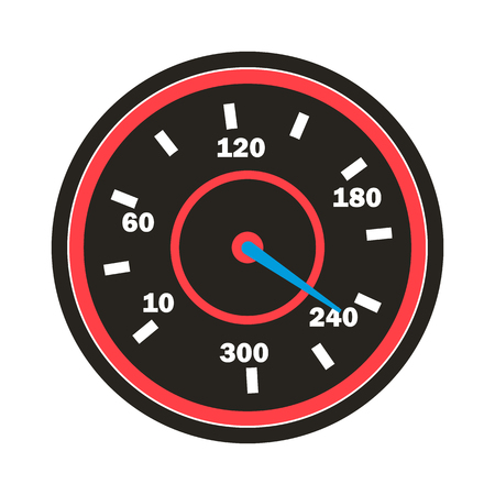Speedometer Icon . Sport Car Speedometer. Isolated Illustration Stok Fotoğraf