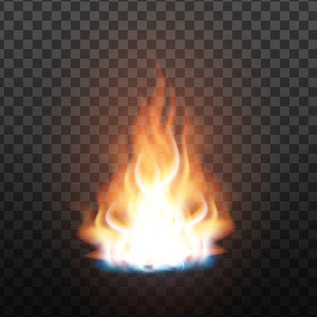 Animation Stage Of Bright Realistic Fire . Orange Flammable Trail Of Fire. Fiery, Bonfire Or Burn Graphic Design Element Effect On Transparency Grid Background. 3d Illustration