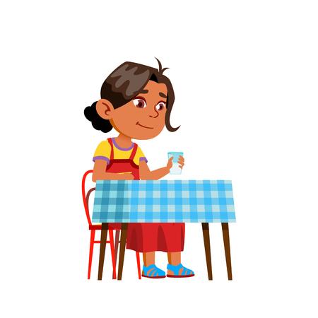 Arab, Muslim Girl Kindergarten Kid Poses Vector. Character Playing. Childish. Casual Clothe. For Presentation, Print, Invitation Design. Isolated Cartoon Illustration