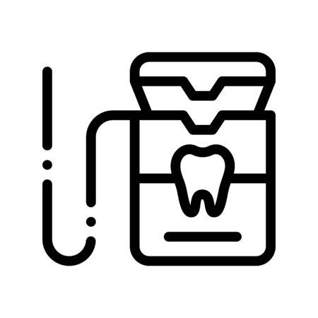 Stomatology Equipment Vector Thin Line Sign Icon. Dentist Cabinet Instrument Tool Equipment And Device Linear Pictogram. Medical Treatment Therapy Dentistry Monochrome Contour Illustration