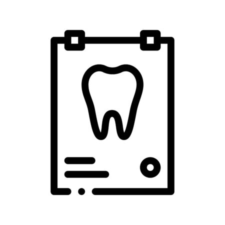 Dental X-ray Image Stomatology Vector Sign Icon Thin Line. Stomatology Dentist Equipment And Device Linear Pictogram. Medical Healthcare And Treatment Therapy Monochrome Contour Illustration