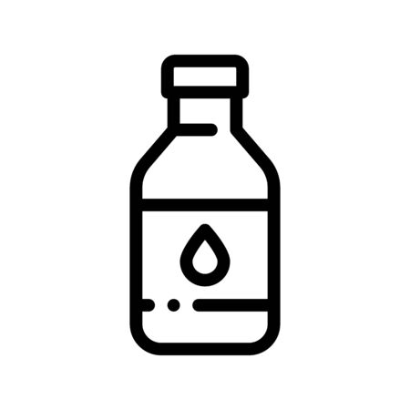 Healthy Water In Plastic Bottle Vector Sign Icon Thin Line. Bio Health Ecology Clean Purity Water Linear Pictogram. Organic Healthcare Vitamin Nutrition Monochrome Contour Illustration Ilustracja
