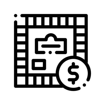 Interactive Kids Game Vector Sign Icon Thin Line. Table Finance Business Game Children Playing Gaming Items Figure Pieces Linear Pictogram. Joyful Things Monochrome Contour Illustration