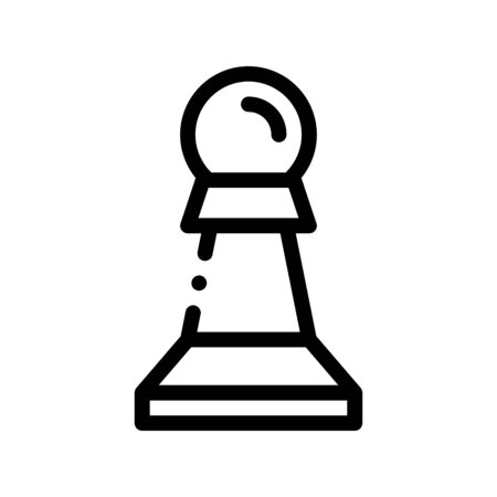 Interactive Kids Game Chess Vector Thin Line Icon. Baby Education Play Chess Counter Figure Children Playing Gaming Items Pieces Linear Pictogram. Joyful Things Monochrome Contour Illustration