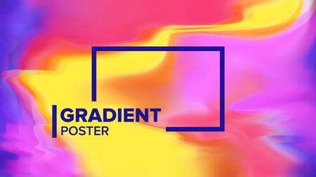Gradient Fluid Background . Abstract Wave. Simple Catalog. Aurora Light. Liquid Design Illustration