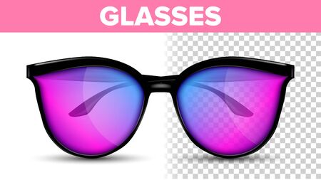 Woman Female Glasses . Hipster Frame Cool Glasses. Fashion Accessory. 3D Illustration