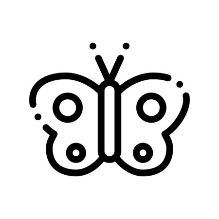 Cosmetic Butterfly Sign Thin Line Icon. Organic Cosmetic, Natural Component, Flutterby Clear Wing Linear Pictogram. Eco-friendly, Cruelty-free Product, Molecular Analysis Contour Illustration