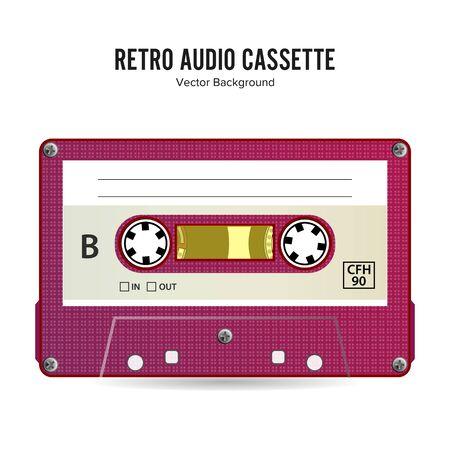 Retro Audio Cassette . Detailed Retro C90 Audio Cassette Place For Title
