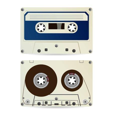 Retro Audio Cassette . Vintage Classic Audio