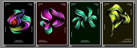 Abstract Shape Poster Set . Minimal Shape. Splatter. Painting Style. Minimal Brigth Background. Illustration