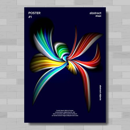 Abstract Shape Poster . Colorful Backdrop. Minimal Shape. Illustration 写真素材