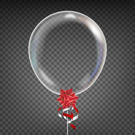 Balloon . Red Bow. Party Decoration Element. Isolated