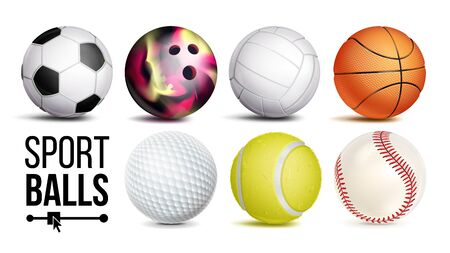 Sport Balls . Realistic. Classic Sport Game, Fitness Symbol Symbol Equipment. Isolated On White Background Illustration