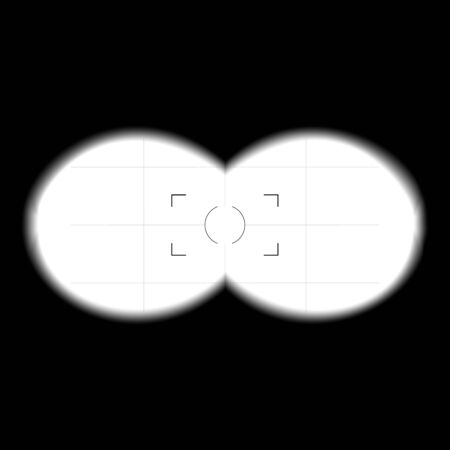 Binoculars View Template. Search Concept. Binoculars With Blurred, Soft Edges. Vision
