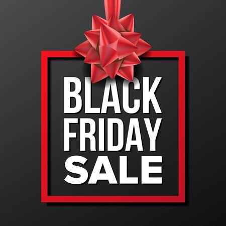 Black Friday Sale Banner . Big Super Sale. Cartoon Business Brochure Illustration. Design For Black Friday Banner, Brochure, Poster, Discount Offer