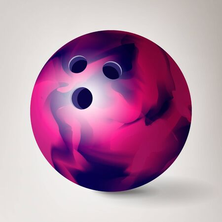 Bowling Ball . 3D Realistic Illustration. Shiny Clean
