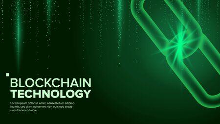 Blockchain . Innovation Binary Code. Big Data Flow Information. Mining Background Illustration