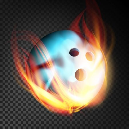 Bowling Ball In Fire Realistic. Burning Bowling Ball. Background
