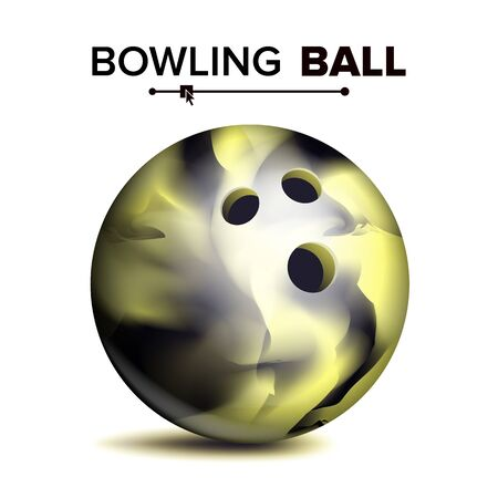 Bowling Ball Isolated . Classic Round Ball. Sport Game Symbol. Realistic Illustration