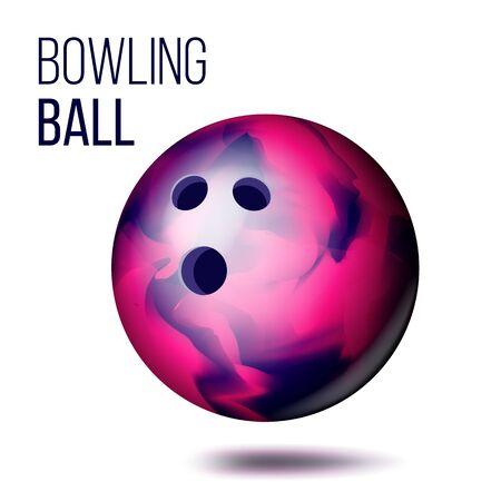 Bowling Ball . Sport Game Symbol. Illustration